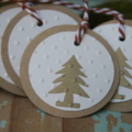 LAST ONE 6 Gold Christmas Tree Gift Tags ~ Ready to Post