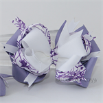 """Loopy stacked bow - """"Purple Swirls"""""""