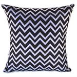 Cushion Cover - Black & White - Monochrome - Chevron