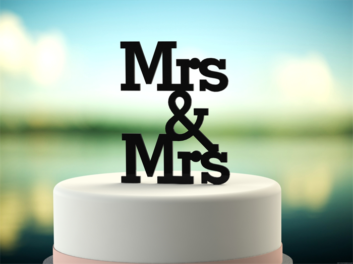 Mrs mrs gay wedding engagement cake topper black original mrs mrs gay wedding engagement cake topper black junglespirit Images