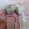 Silver & Perspex Dangle Earrings