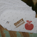 LAST ONE  24 Apple for the Teacher Tags ~ Christmas ~ Ready to Post