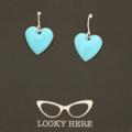 Turquoise Hearts ~ Earrings