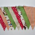 Woodland Fox Fabric Bunting - Unisex Bedroom - 3m