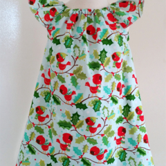 'Chirpie' Girls Christmas Seaside Dress Size 3