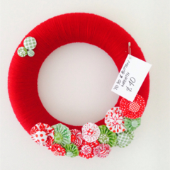REServed to SALLY Christmas Wreath Decoration Wall Hanging