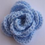 Baby Blue Rose Hair Clip