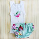 birdie bloomers + singlet set | floral | newborn baby girl