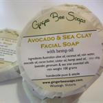 Avocado & Sea Clay Facial Soap with Hemp oil