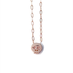 Rose gold tiny skull necklace