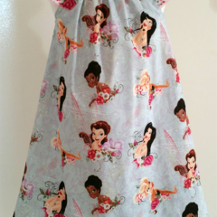 Tinkerbell and Friends Seaside Dress Size 4