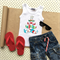 Mustache Christmas Tree Applique Singlet
