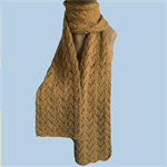 Luxury Scarf 100% Baby Camel Fibre, Handspun and Handknitted, No Dyes