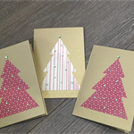 3 Pack Christmas Tree Cards