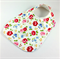 Baby/Infant Dribble Bib, Floral Cotton Fabric, Bamboo Toweling, Snap Fastened.