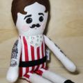 Strongman tattooed cloth boy doll
