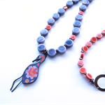 Flamingo pendant statement necklace by Sasha + Max Studio