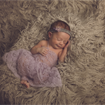 Mohair Newborn Dress & Bloomers Set / Newborn Photography Prop / Soft Purple