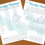 Printable Christmas Planners - Two Weekly Organisers (Baubles)
