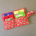 Orange Tea Wallet with floral print and orange pocket - holds 4 teas