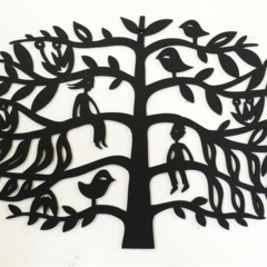 'Tree of Life 2' woodcut