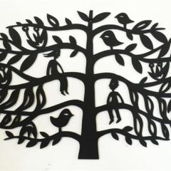'Tree of Life 2' woodcut