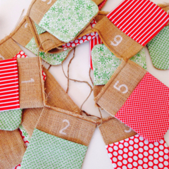 SOLD Christmas advent calender bunting