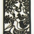 """""""Pecking Order"""" woodcut"""