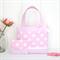 Mini Tote Bag & Purse - Pink Spots