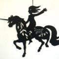 Girl with Unicorn woodcut (personalised optional)