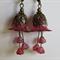 Burgundy/wine Lucite Flower Earrings