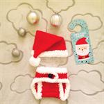 Crochet Baby Santa Hat and Nappy Cover