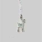 Little deer necklace, sterling silver