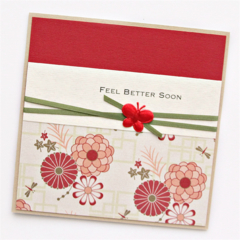 Get Well Soon card | Feel Better Soon | Red Oriental | Thinking of You