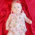 Christmas Pink Baby Play Suit / Onesie / Romper