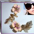 Enamel flower earrings