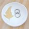 Gold leaf ceramic ring dish, candle holder, ring holder. porcelain bowl.