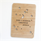 Personalised Christmas card laser cut and bamboo ply wood magical Christmas