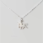 Unicorn necklace, sterling silver