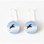 Blue Bird Dangle Earrings - Small Bird Earrings