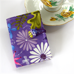 Tea Bag Wallet - Flowers on Lavender Purple