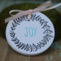 10 Christmas Wreath Tags ~ Christmas Gift Tags ~ Joy Gift Tags ~ Ready to Post