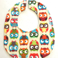 Owls Dribble bib with stay-dry backing