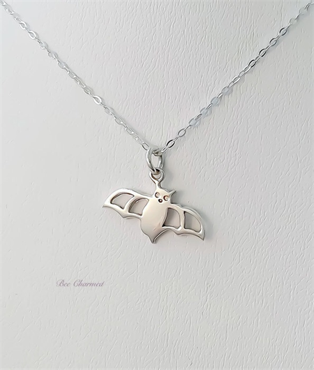 Little bat necklace, sterling silver