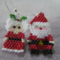 Mr and Mrs Clause Beaded Earrings 40% Off Sale