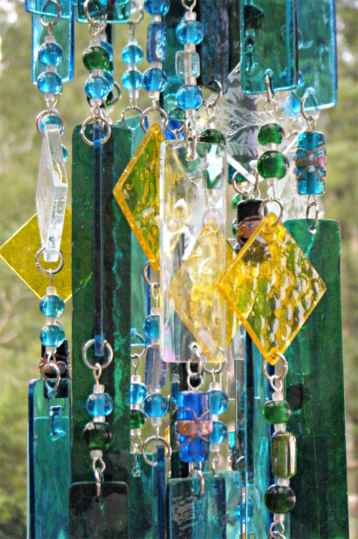 Stained Glass Wind Chime Blue and Green Handcrafted windchime made in  Australia  Stained Glass Wind Chime Blue and Green Handcrafted windchime made  . Handcrafted Lighting Australia. Home Design Ideas