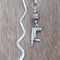 Silver Plated Swirl Bookmark Drill