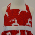 Size 2 and Size 4 - Reindeers Christmas Dress