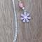 Tibetan Silver Bookmark Purple Flower