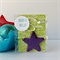 STAR BRIGHT - star shaped resin decoration filled with purple glitter